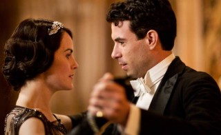 "Michelle Dockery, who plays Lady Mary Crawley in ""Downton Abbey"" and is pictured here with Tom Cullen who plays Lord Gillingham, received a nomination as best actress in a drama series. Photo courtesy of PBS' Masterpiece"