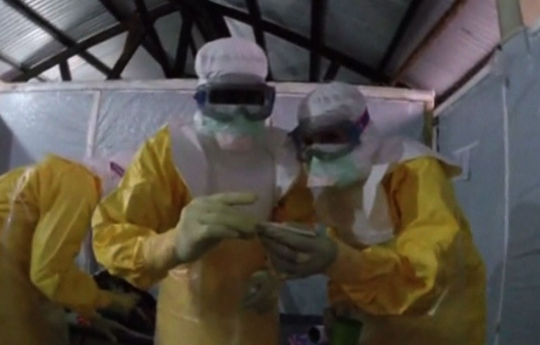 Patients in West Africa are fleeing and fighting doctors trying to treat Ebola.