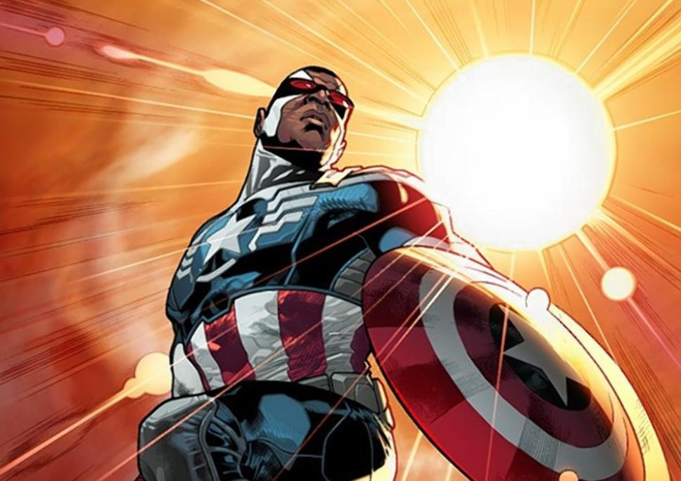 Marvel Comics announced Wednesday that African American superhero Falcon will take over as Captain America in a new comic book series debuting in the fall. Image via Marvel Comics