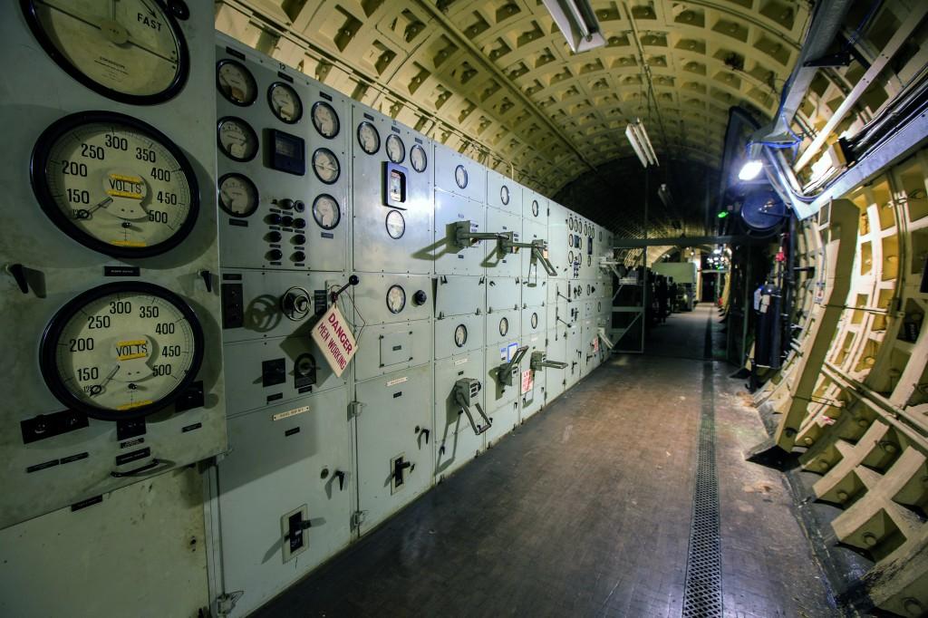 "The beautiful enameled switch gear in the Kingsway Telephone Exchange. Photo: ""Subterranean London: Cracking the Capital"" by Bradley Garrett et al."