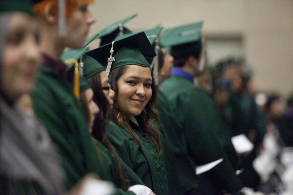 College students at graduation. Courtesy of the College of DuPage.