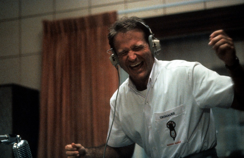 "Williams played the role of radio DJ Adrian Cronauer in 1987's ""Good Morning, Vietnam""."