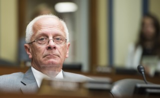 Rep. Kerry Bentivolio, R-Mich., at a House Oversight and Government Reform Committee's Economic Growth, Job Creation, and Regulatory Affairs Subcommittee hearing on July 23. Photo By Bill Clark/CQ Roll Call