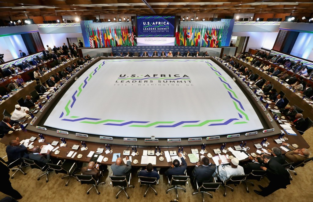 African and American leaders prepare for the third and final plenary meeting of the U.S.-Africa Leaders Summit in Washington August 6.  Photo by Chip Somodevilla/Getty Images