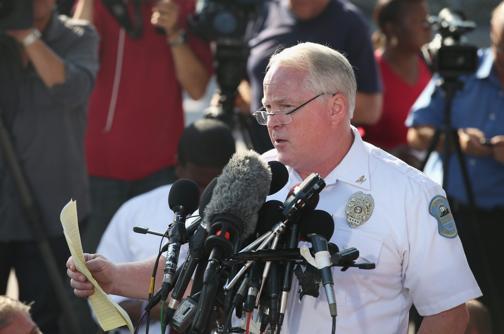 Ferguson Police Chief Thomas Jackson on Friday morning announces Darren Wilson is the officer being investigated in the shooting death of teenager Michael Brown.