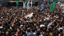 Funeral ceremony of Hamas commanders in Gaza