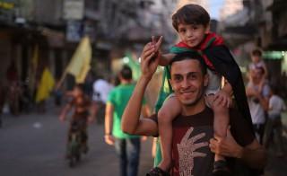 Palestinians celebrate Gaza ceasefire