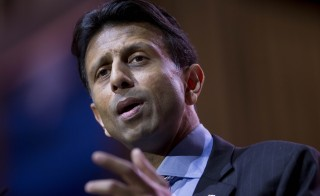 Bobby Jindal, governor of Louisiana, speaks during the Conservative Political Action Conference (CPAC) in National Harbor, Maryland, U.S., on Thursday, March 6, 2014. CPAC, a project of the American Conservative Union (ACU), runs until Saturday, March 8. Photographer: Andrew Harrer/Bloomberg via Getty Images