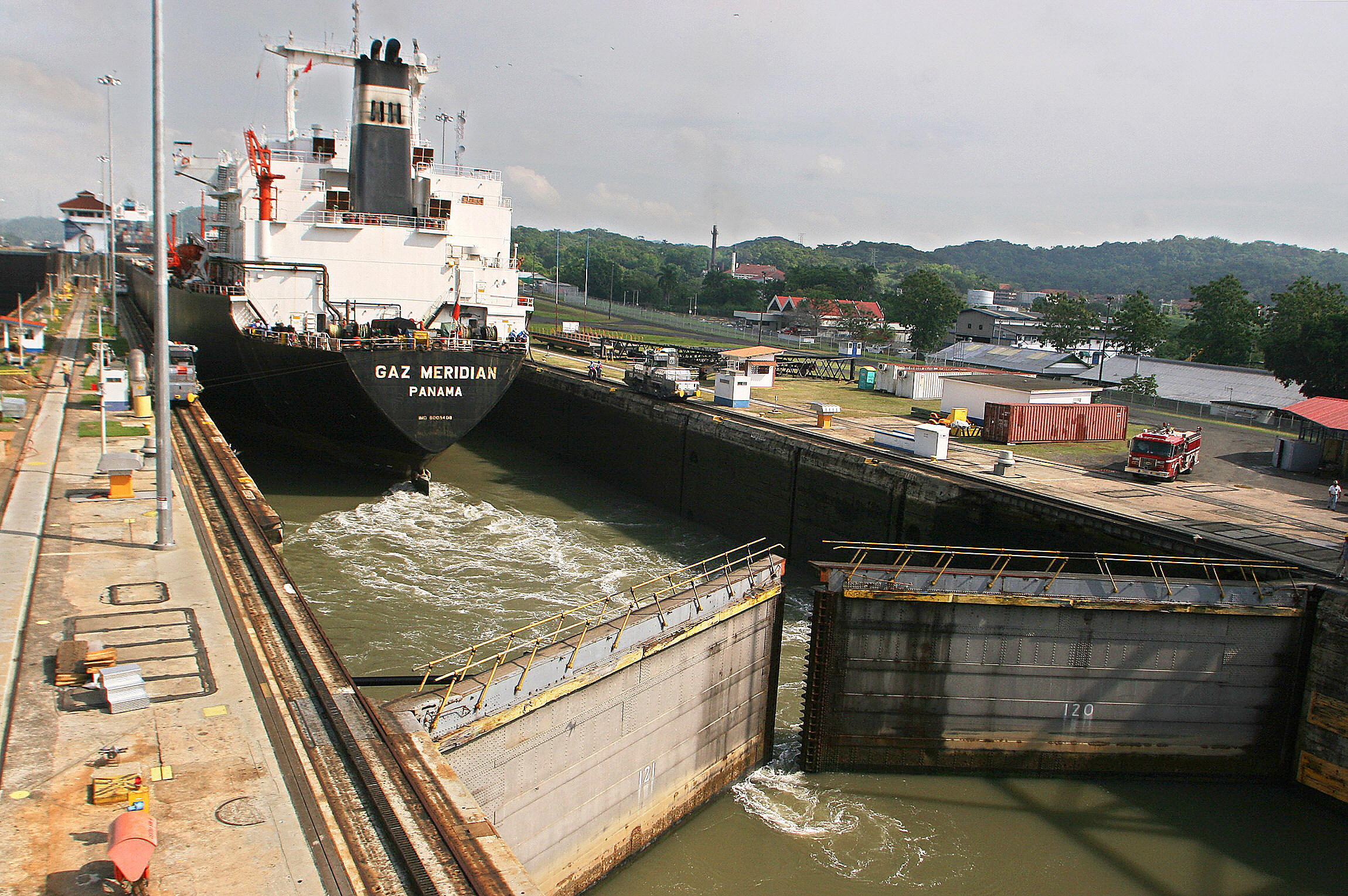 gallery years of the canal in photos newshour a tanker crosses through the canal s miraflores locks on 21 2006 the