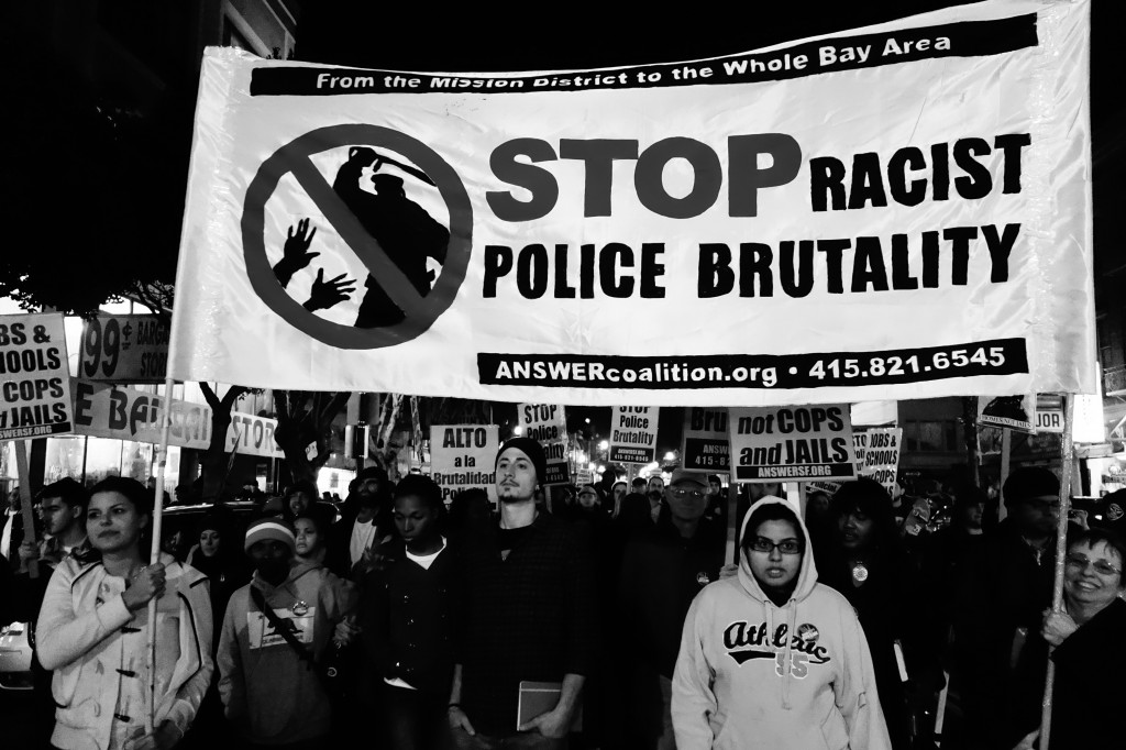 Demonstrators march against police brutality in San Francisco in 2013. Photo by Flickr user Steve Rhodes