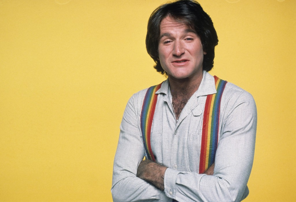 "Robin Williams in 1978, for a photo shoot for his breakout role as Mork in TV's ""Mork & Mindy."" Photo by ABC Photo Archives/ABC via Getty Images"
