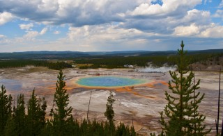 Photo of Great Spring and Paradise Lake at Yellowstone National Park by Flickr user jamesbmore.