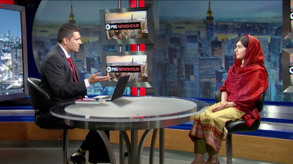 Activist Malala Yousafzai talks with Hari Sreenivasan for PBS NewsHour Weekend