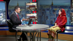 Activist Malala Yousafzai talks with Hari Sreenivasan for PBS NewsHour Weekend