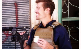 James Foley reporting from Aleppo, Syria, in July of 2012. Photo courtesy of the Find James Foley Campaign