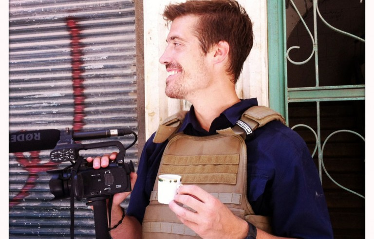 James Foley reporting from Aleppo, Syria in July of 2012. Photo courtesy of the Find James Foley Campaign