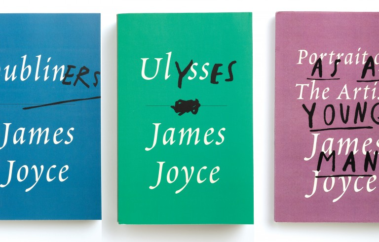 According to Mendelsund, Joyce brought samples of cloth with him to the printer -- he had specific colors in mind for his covers. The designer capitalized on that original idea. From Cover by Peter Mendelsund, published by PowerHouse Books