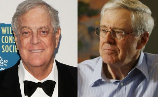 Brothers David Koch, left, and Charles Koch.