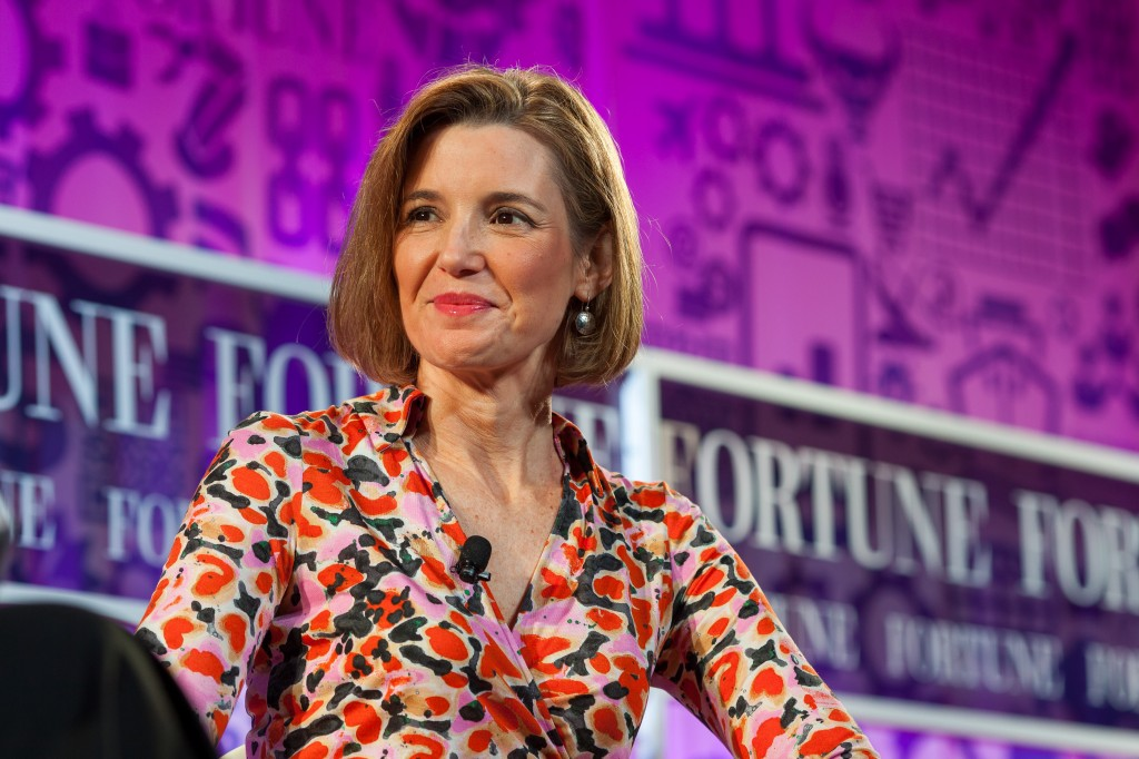 Sallie Krawcheck thinks women have been told to keep their heads down, but she hopes her relaunched women's network and mutual fund will help combat that tendency. Photo by Stuart Isett/Fortune Most Powerful Women via Flickr user Fortune Live Media.