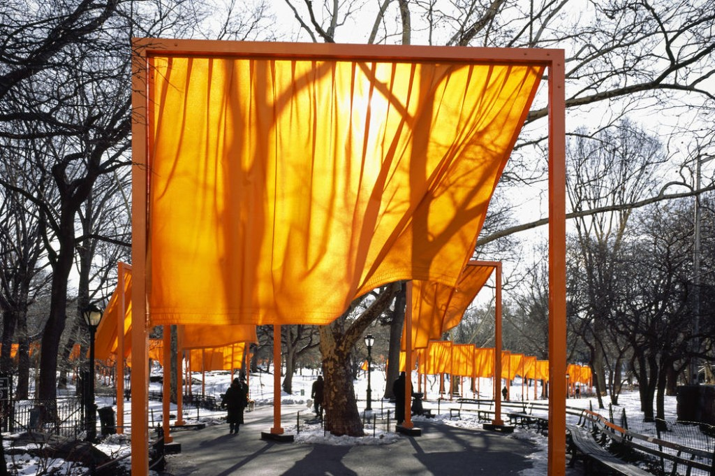 Christo and Jeanne-Claude  The Gates, Central Park, New York City, 1979-2005  Photo: Wolfgang Volz  © 2005 Christo and Jeanne-Claude