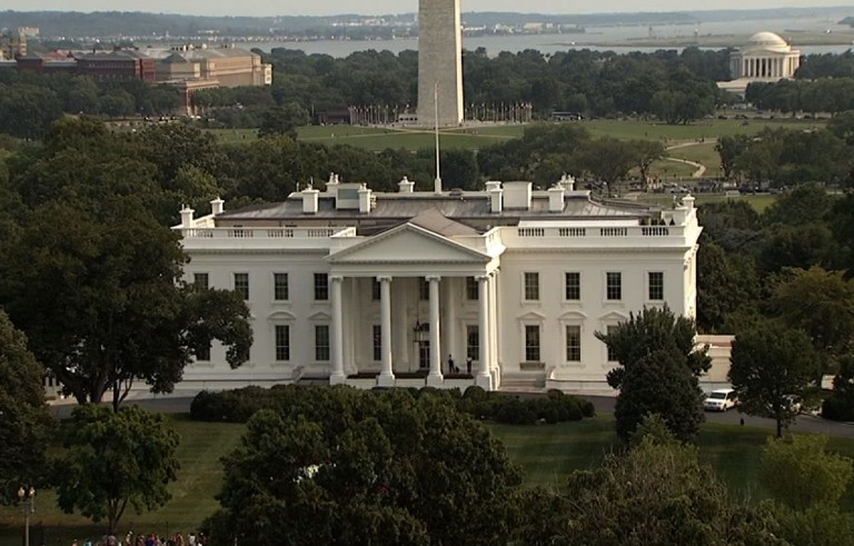 White House aerial shot
