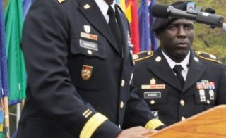 Maj. Gen. Michael T. Harrison, seen here giving remarks in 2012, was demoted to a one-star ranking for his handling of a sexual assault case. Photo from U.S. Army