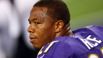 The Baltimore Ravens have not commented on the newly released video that shows the brutality of running back Ray Rice's assault on his fiance in an Atlantic City elevator. Photo by Ronald Martinez/Getty Images