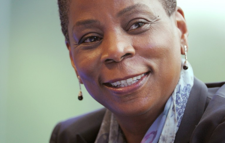 Xerox CEO Ursula Burns Photo credit should read ERIC PIERMONT/AFP/Getty Images