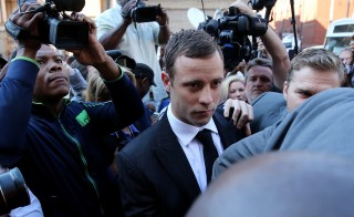 Oscar Pistorius arrives at court on Sept. 11 in Pretoria, South Africa. Photo by Christopher Furlong/Getty Images