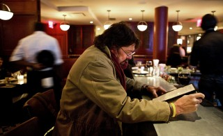 File photo of a patron at a restaurant in New York City. Photo by Benjamin Norman/Bloomberg via Getty Images