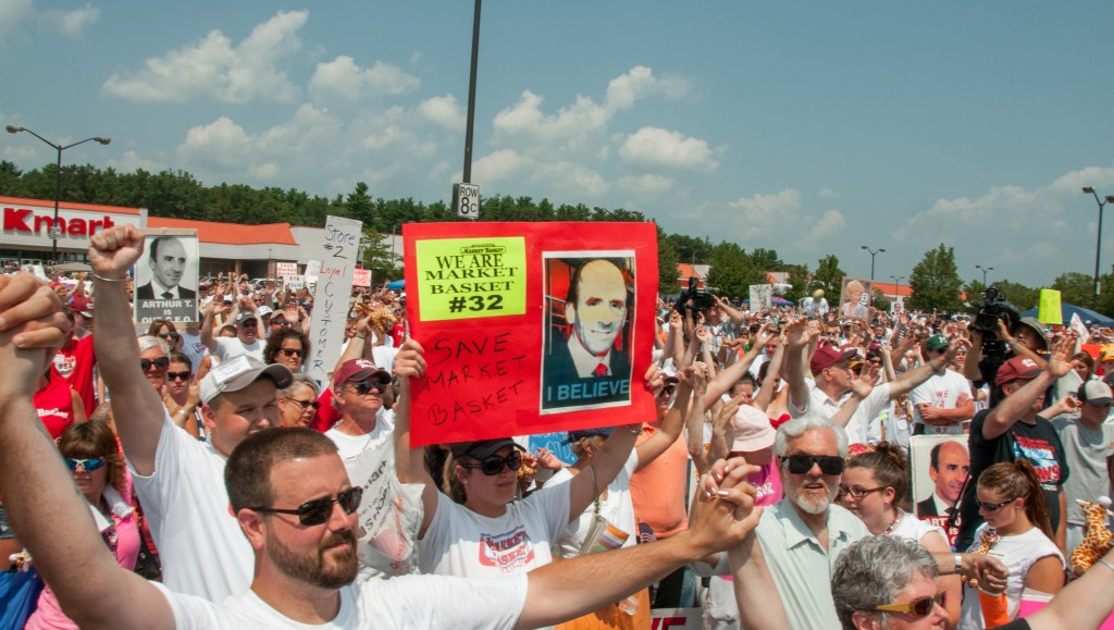 On Labor Day, worker ownership advocate Christopher Mackin reflects on the meaning of the Market Basket strikes, and the reinstatement of CEO Arthur T. Demoulas. Photo by Flickr user Streamingmeemee.