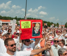 On Labor Day, worker ownership advocate Christopher Mackin reflects on the meaning of the Market Basket strikes, and the reinstatement of beloved CEO Arthur T. Demoulas. Photo by Flickr user Streamingmeemee.