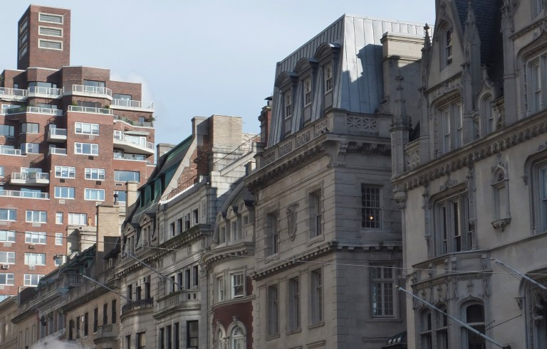 Townhouses on the Upper East Side of Manhattan. Photo by Flickr user aidaneus.