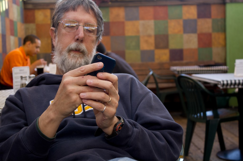 Do older workers need to master texting and Twitter to get a job these days? Photo by Flickr user quinn.anya.