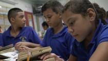 Migrant children in school in Florida
