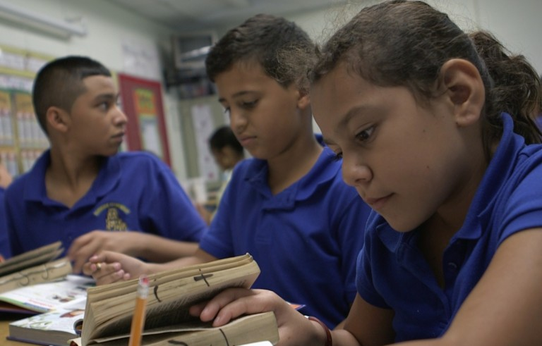 Migrant children in school in Florida