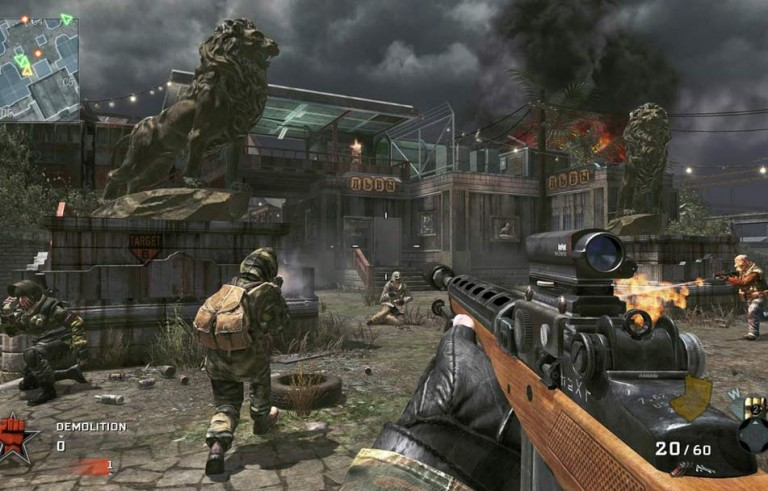 A screenshot of the first person shooter video game Call of Duty: Black Ops 2.