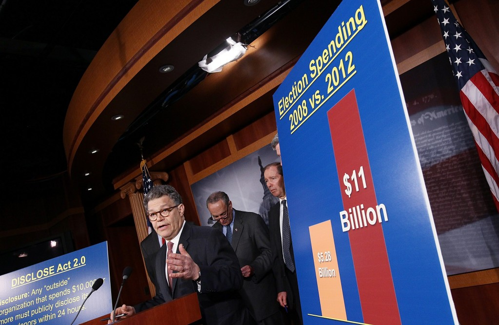 Sen. Al Franken (D-MN) a 2012 news conference to announce new legislation