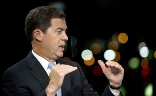 Kansas Gov. Sam Brownback and Democratic challenger Photo by David Paul Morris/ Bloomberg