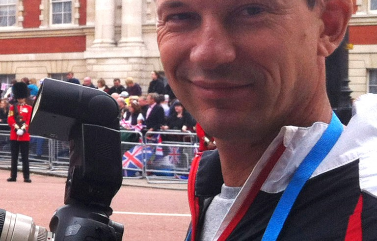 A June 2012 file photo of British photojournalist John Cantlie, who was captured in Syria by jihadist militants in November 2012. Photo via Getty Images