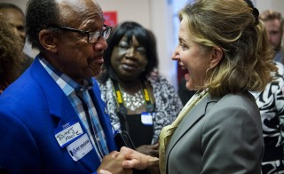 Sen. Kay Hagan speaks with supporters during an event in Statesville, N.C. on Sept. 24. Democrats have said if they win North Carolina, Colorado and Iowa, they will hold the Senate. Photo By Tom Williams/CQ Roll Call and Getty Images