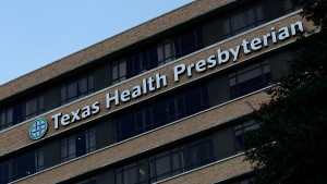 The Texas Department of State Health Services has started monitoring 100 people who were potentially exposed to Ebola. Caption:DALLAS, TX - SEPTEMBER 30: A general view of Texas Health Presbyterian Hospital Dallas where a patient has been diagnosed with the Ebola virus on September 30, 2014 in Dallas, Texas. The patient who had recently traveled to Dallas from Liberia marks the first case of this strain of Ebola that has been diagnosed outside of West Africa. (Photo by Mike Stone/Getty Images)