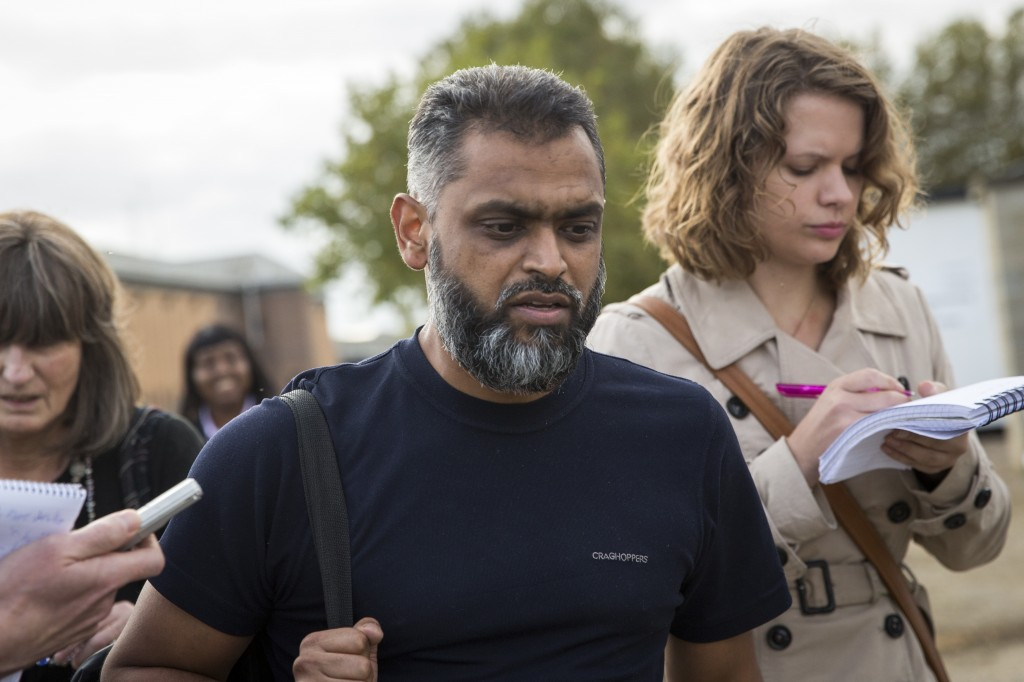 Moazzam Begg was released from Belmarsh Prison in London on Oct. 1. The Crown Prosecution Service has dropped seven terrorism-related charges against the former Guantanamo Bay detainee, deciding there was insufficient evidence to continue with the prosecution. Photo by Rob Stothard/Getty Images