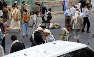 A suicide bomber killed dozens of people in Sanaa, Yemen, on Oct. 9. Photo by Samet Dogan/Anadolu Agency/Getty Images