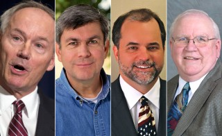 Asa Hutchinson (R), Mike Ross (D), J. Joshua Drake (G), and Frank Gilbert (L) will meet on the University of Central Arkansas campus at 3 p.m. EDT on Thursday, Oct. 16.