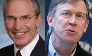 Bob Beauprez (R) and Gov. John Hickenlooper (D) are in a heated battle for the Colorado governor's mansion. Images courtesy Wikimedia.