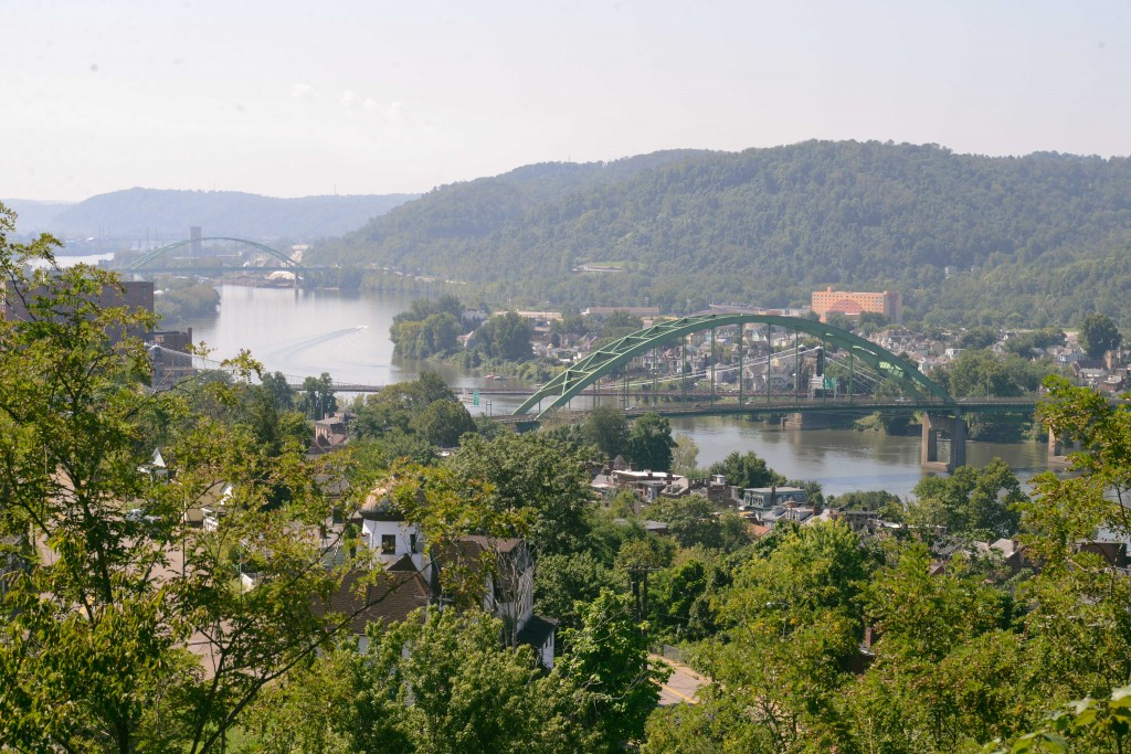 A bird's-eye view of Wheeling, W.Va. Photo by Ariel Min/PBS NewsHour