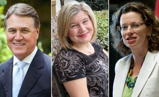David Perdue, Amanda Swafford and Michelle Nunn