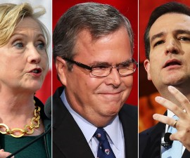 Is it too early to start predicting the chances of a Hillary Clinton, Jeb Bush or Ted Cruz presidential bid? Photos by Getty Images