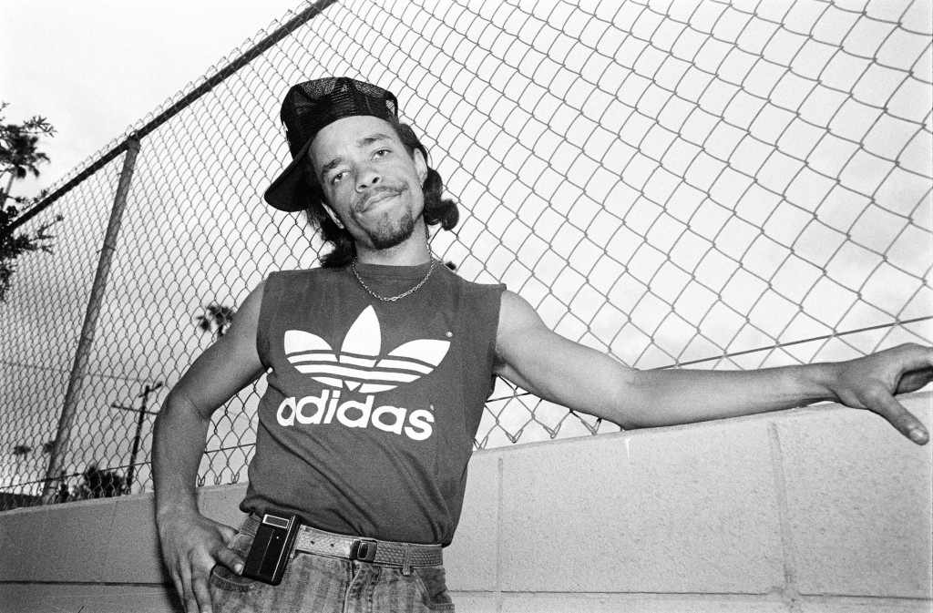 Ice-T in Los Angeles, circa 1986. Photo by Glen Friedman, courtesy of Rizzolli New York.